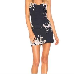 REVOLVE X Majorelle strapless floral dress ruched